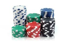 Free Poker Chips Royalty Free Stock Images - 9954559