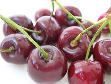 Free Shiny Cherries Stock Image - 9954651