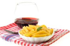 Free Pasta With Basil Stock Photo - 9955700