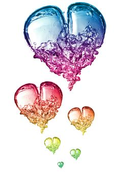 Free Colorful Bubbles Hearts Royalty Free Stock Photo - 9955705