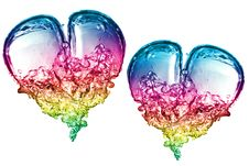 Free Colorful Bubbles Hearts Royalty Free Stock Photography - 9955727
