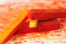 Free Macro Of Pastel Sticks Royalty Free Stock Images - 9956189