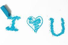 Free Blue Heart Pastel Sticks Doodle Royalty Free Stock Photo - 9956365