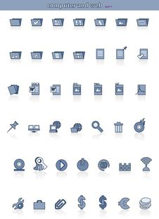 Free Icons-part1-shadow Stock Images - 9956444