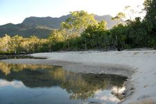 Lagoon At Little Ramsay Bay On Hinchinbrook Island Royalty Free Stock Images