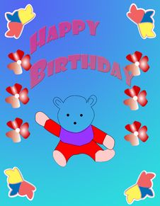 Free Birthday Card Stock Image - 9956851