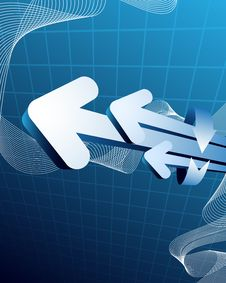 Free Blue Abstract Background Royalty Free Stock Images - 9956939