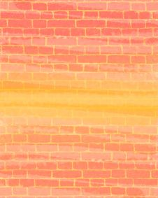Free Coloured Brick Wall Stock Photo - 9957190