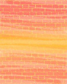 Coloured Brick Wall Stock Photo
