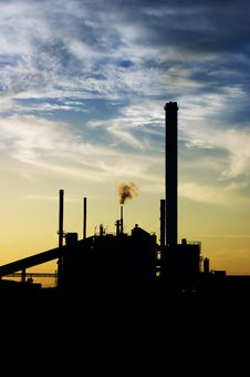 Free Industrial Sunset Stock Images - 9957784