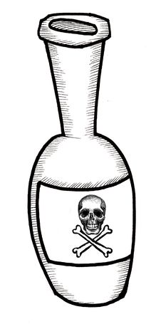 Free Poison Bottle Royalty Free Stock Images - 9957809