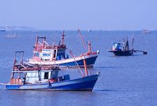 Free Fishing Boats In Thailand Royalty Free Stock Photos - 9958228