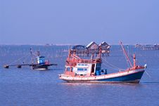 Fishing Boats In Thailand Stock Photo