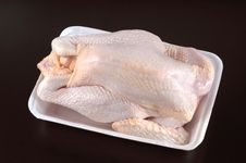 Free Raw Chicken On Black Royalty Free Stock Photo - 9958405