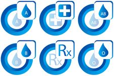 Free Medical Buttons Royalty Free Stock Images - 9959349