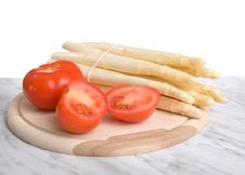 Free Fresh Asparagus And Tomatos Stock Photography - 9959782