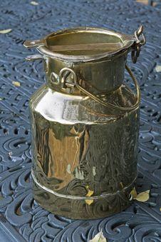 Free Vintage Milk Pail Stock Image - 9959961