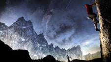 Free Rock Climbing Stock Image - 99545771
