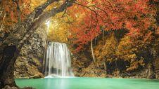 Free Erawan Waterfall In Kanchanaburi, Thailand Stock Image - 99545841