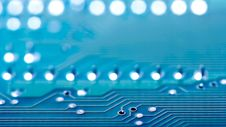 Free Closeup Of Part Of A Blue Circuit Board Stock Image - 99545961