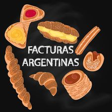 Free Vector Facturas Argentinas Stock Images - 99593424
