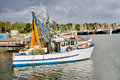 Free Fishing Trawlers Moored At Docks Royalty Free Stock Photo - 9962555