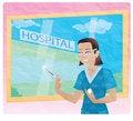 Free Nurse With Needle Stock Image - 9967571