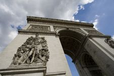 Free Arc De Triomphe Royalty Free Stock Image - 9960036