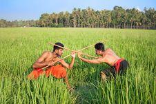 Free Kalarippayat, Indian Ancient Martial Art Of Kerala Royalty Free Stock Photo - 9960765