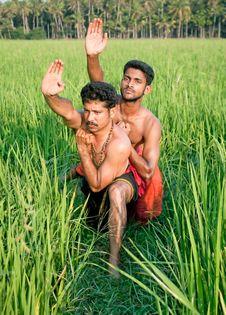 Free Kalarippayat, Indian Ancient Martial Art Of Kerala Stock Image - 9960771