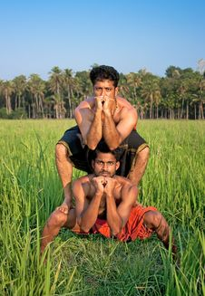 Free Kalarippayat, Indian Ancient Martial Art Of Kerala Royalty Free Stock Image - 9960796