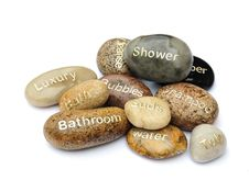 Free Bathroom Symbol Pebbles Royalty Free Stock Photo - 9961045