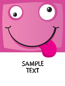 Free The Cheerful Character With A Smile Stock Image - 9961721