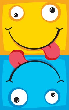 Free Two Cheerful Characters With Smiles Royalty Free Stock Photo - 9961725