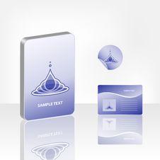 Free Blue Aqua Style Royalty Free Stock Photo - 9961875