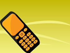 Free Orange Black Mobile Phone Stock Image - 9962401