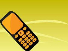 Free Orange Black Mobile Phone Stock Image - 9962401