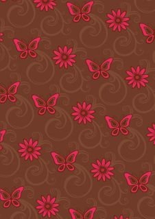 Free Floral Pattern Royalty Free Stock Photo - 9962425