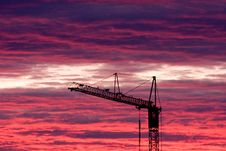 Free Crane In Sunset Stock Photo - 9963080