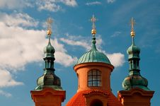 Free Telephoto Of Saint Lawrence Church Cupolas Stock Photo - 9963900