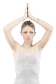 Free Young Woman Making Yoga Stock Photo - 9963950