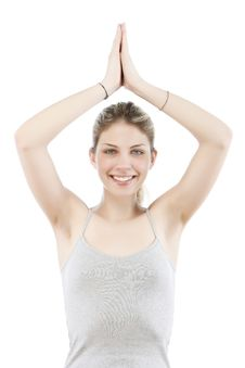 Free Young Woman Making Yoga Royalty Free Stock Images - 9963989