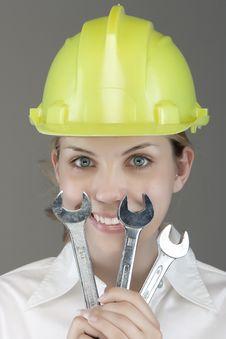 Free Pretty Girl With Helmet Stock Photos - 9964433