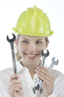 Free Pretty Girl With Helmet Stock Images - 9964544