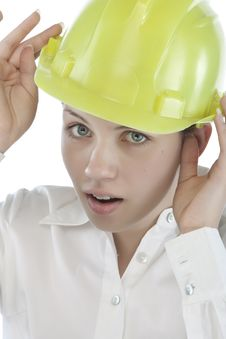 Free Attractive Young Engineer Royalty Free Stock Photo - 9964745