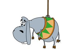 Free Donkey On A Rope Royalty Free Stock Images - 9964809