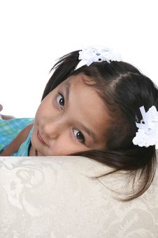 Free Pretty Asian American Girl Resting Stock Photos - 9965293