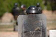 Free Training For Civil Disturbance Royalty Free Stock Images - 9965949