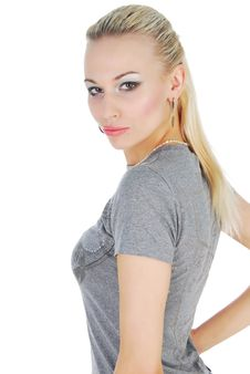 Free Cute Blond With Makeup Stock Photography - 9966332