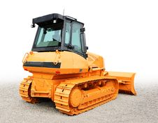 Free Yellow Bulldoze Stock Photos - 9966873